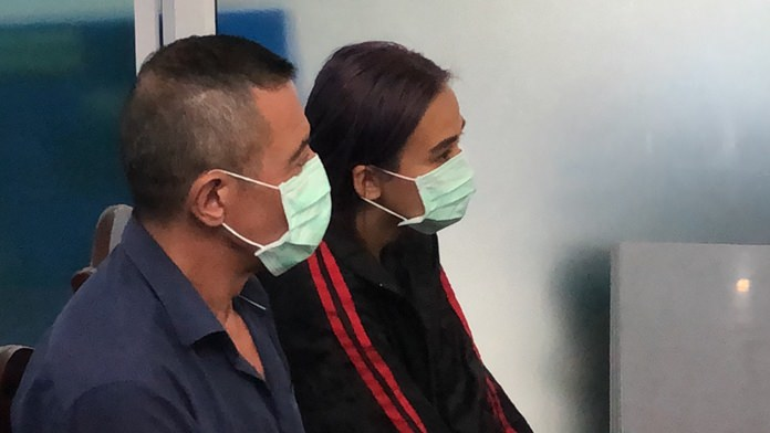 Albert Bachtoula Cherif, 57, and Nannapat Krawin were arrested for allegedly stealing their Pattaya landlord's pickup truck.