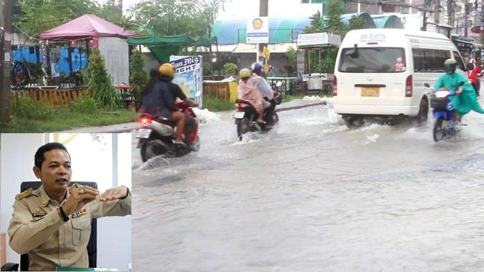 Sanitation Chief Berkchai Ninpan (inset) says Nongprue is well prepared for the rainy season finale.