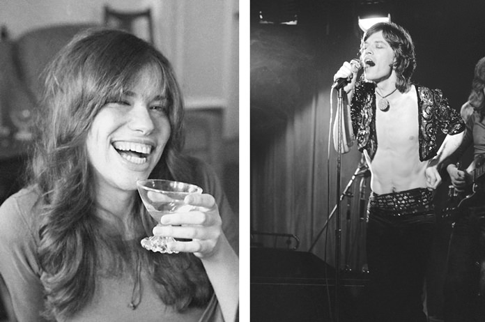 Carly Simon (left) and Mick Jagger (right) are shown in this combined photo. (AP Photo)