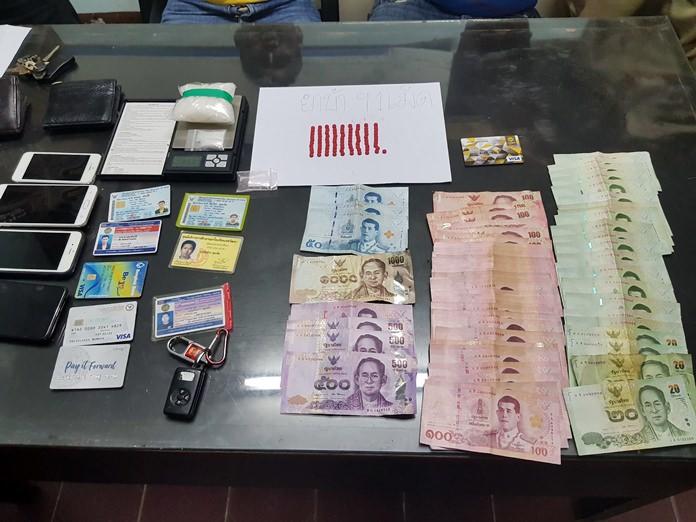 Officers seized 91 methamphetamine tablets and 105 grams of crystal meth.
