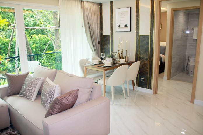 Developers of the Dusit Grand Park 2 condominium opened their showroom on Jomtien Second Road.
