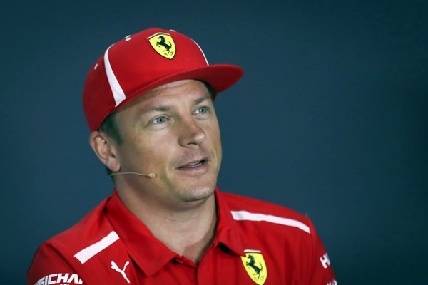 Ferrari driver Kimi Raikkonen of Finland speaks during a press conference at the Marina Bay City Circuit ahead of the Singapore Formula One Grand Prix in Singapore, Thursday, Sept. 13, 2018. (AP Photo/Yong Teck Lim)