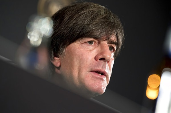 Joachim Loew, head coach of the men's German national soccer team, addresses the media during a press conference in Munich Germany, Sept. 5, 2018. Germany will face the team of France for a UEFA Nations Cup match in Munich on Thursday, Sept. 6, 2018. (Sven Hoppe/dpa via AP)