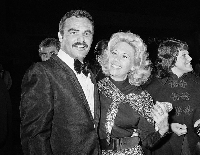 In this Nov. 5, 1971 file photo, actress Dinah Shore and Burt Reynolds appear together in Los Angeles. (AP Photo/Harold Filan, File)