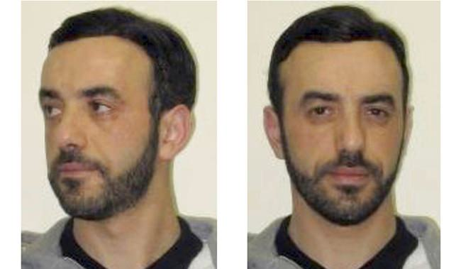 This July 9, 2018 file screenshot of the Interpol website shows portraits of notorious French criminal, Redoine Faid, as part of Interpol's wanted notice. (Interpol via AP)