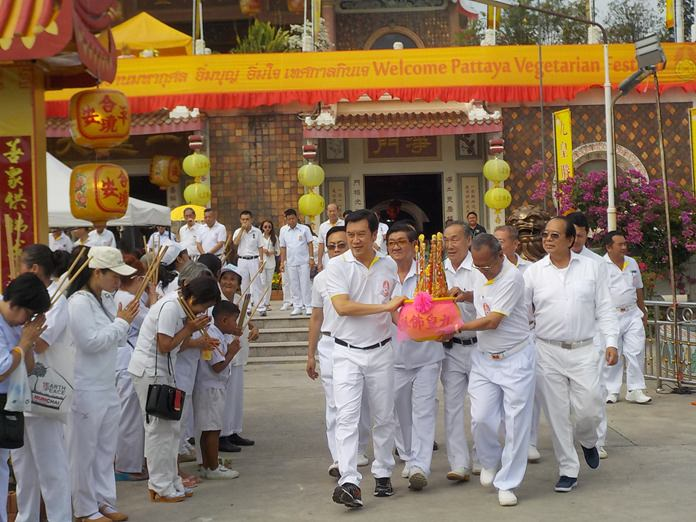 The Pattaya Vegetarian Festival will kick off Oct. 8 in Naklua. (File photo from last year's event.)