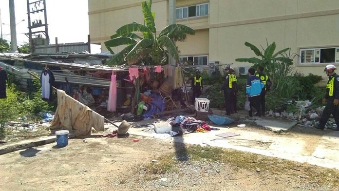 More than a dozen homeless people were picked up in Jomtien Beach and offered shelter and job training.