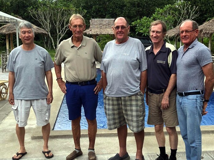 (From left) Daniel Oshiro with Willem Lasonder, Stan Rees, Jonathan Pratt & Paddy Devereux.