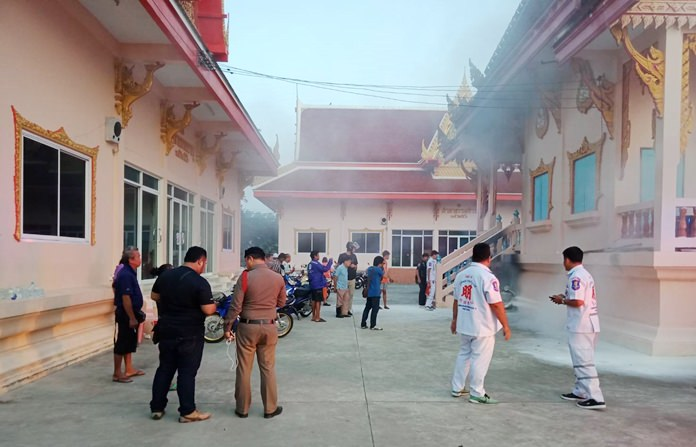 Trat native Peerapong Jirakulratwong died after setting himself on fire next to a crematorium at Sutthawat Temple.