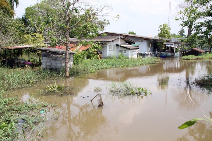 Somnuk Huayyai's family has been living on the same three-rai property in East Pattaya since the 70-year-old's grandmother built a house there. But for the past 10 years she's also lived with flooding.
