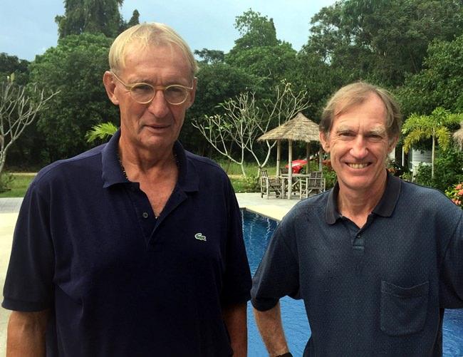 Willem Lasonder (left) with Jonathan Pratt.