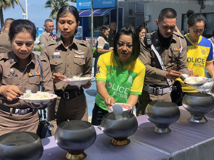 Pattaya marked National Police Day with a merit-making ceremony Oct. 17.