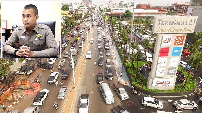 Traffic inspector Pol. Maj. Aruth Sapanon said authorities are taking steps to improve traffic flowing near the new mall.