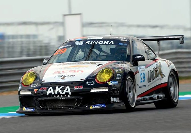 Thomas Raldorf of Denmark drives the TR-Motorsports Porsche 911 at the Chang International Circuit in Buriram, Sunday, Oct. 28. (Photo/Thailand Super Series)