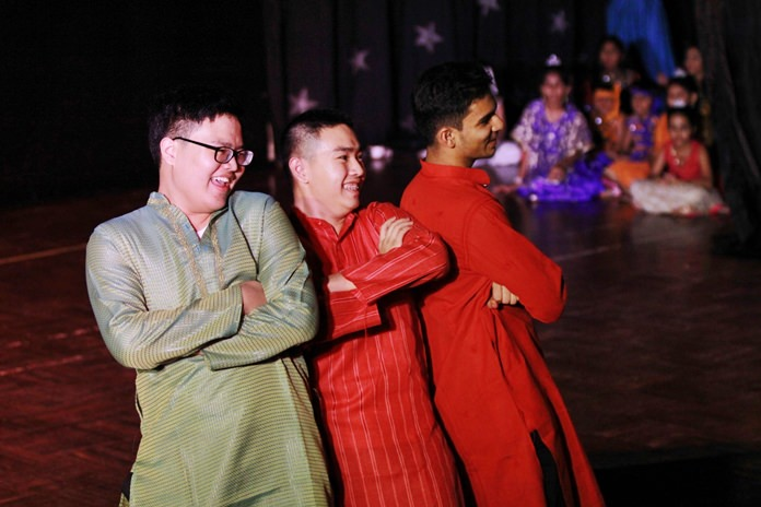 The IB boys joined in with an Indian dance.
