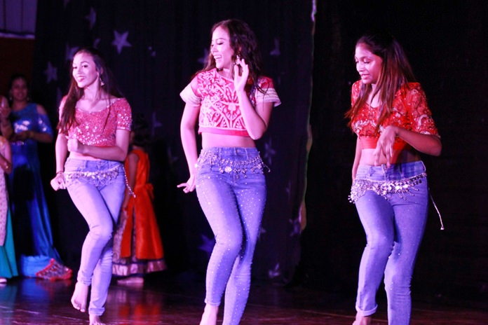There was a mix of traditional and modern Indian songs at this year's Diwali.