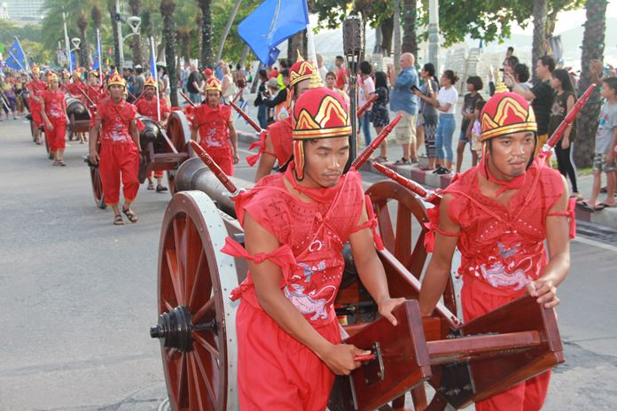 The royal army brought their cannons to Pattaya to hide them before using them against the invading Burmese in Ayutthaya.
