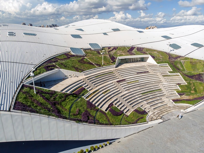 The National Kaohsiung Center for the Arts designed by Dutch architect Francine Houben is shown in Kaohsiung in southern Taiwan. (National Kaohsiung Center for the Arts via AP)