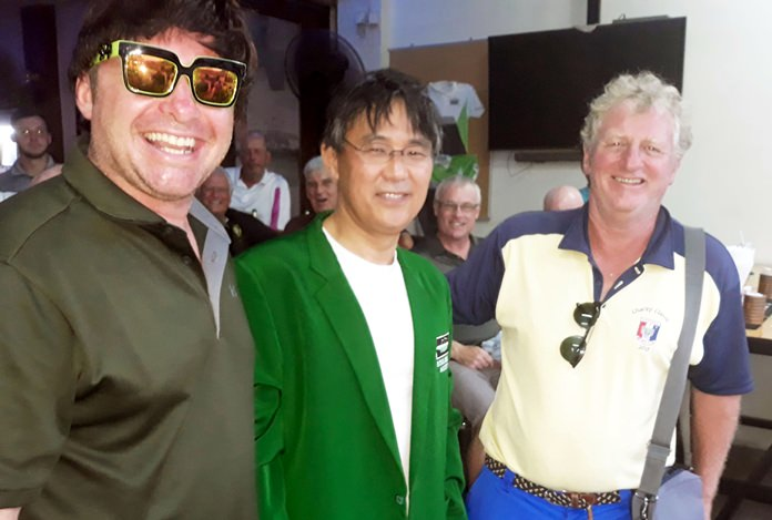 Masa Takano (center) with Martin Annable (left) and Maurice Roberts.