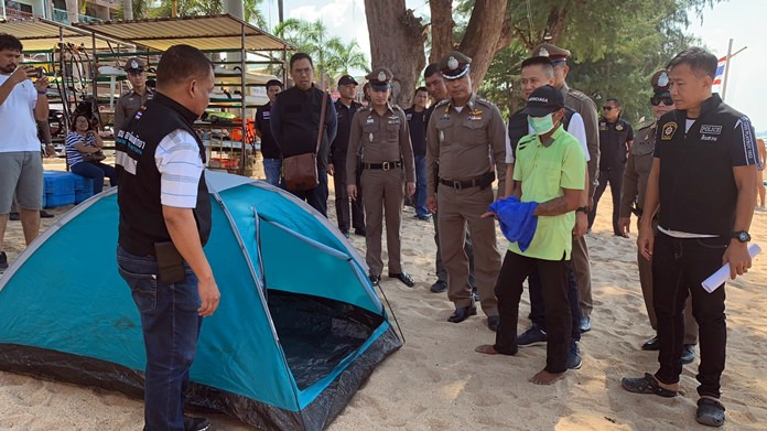 Night watchman Adisak Jantachot was arrested for allegedly raping a 14-year-old girl in a tent on Jomtien Beach.