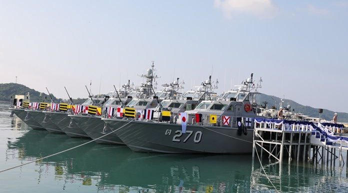The Royal Thai Navy took delivery of five high-performance coastal patrol boats for maritime law enforcement and protection of the royal family.