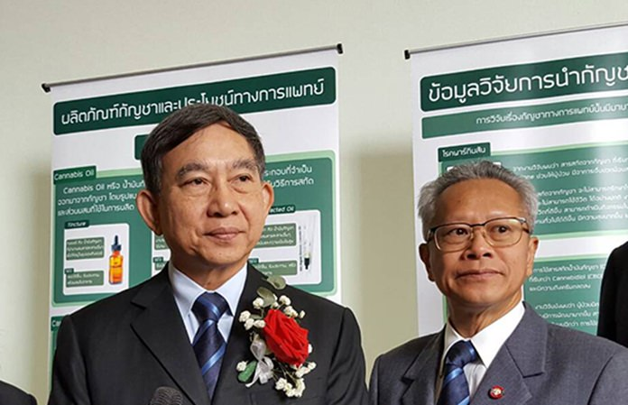 Deputy Prime Minister and Justice Minister ACM Prajin Juntong (left) talks to the media, Wednesday, Oct. 31.