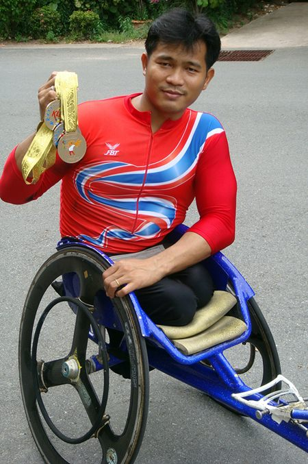 Suppachai Koysub, former student, teacher, Paralympic gold medalist and inspiration.