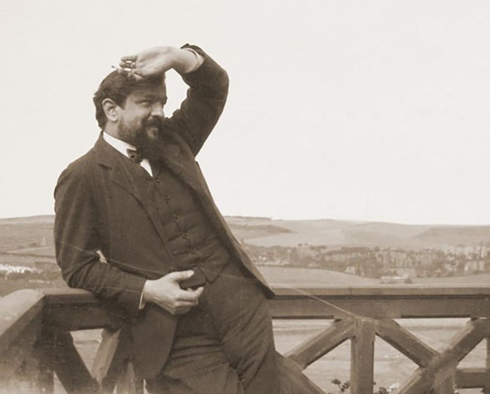 Claude Debussy in Normandy, 1904.