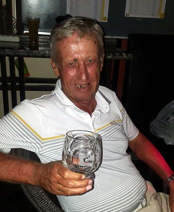Golfer of the month Geoff Parker.