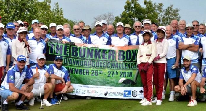 Bunker golfers at Kabinburi Sports Club.