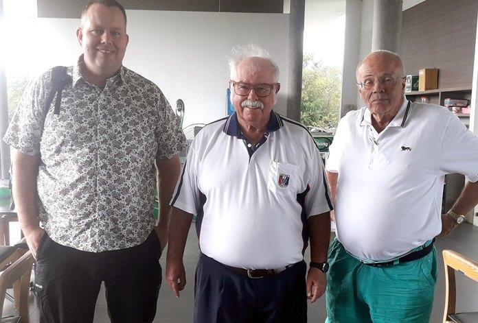 Argo Levin and Kurt Sandgaard with Dave Richardson.