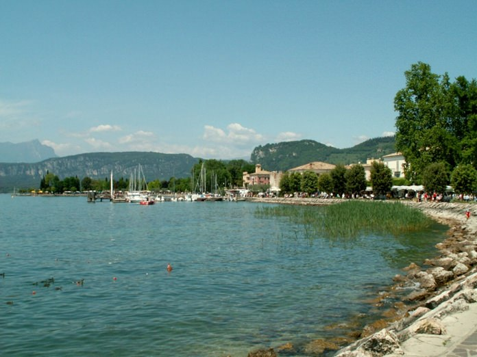 Bardolino Town Lake Garda Italy.