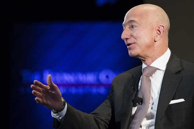 """Back in 2013, Jeff Bezos, Amazon founder and CEO, went on """"60 Minutes"""" to share his vision of the future: Drones would be delivering Amazon packages in five years. It hasn't happened. (AP Photo/Cliff Owen, File)"""