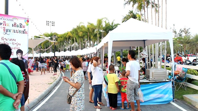The second Mabprachan Walk & Eat weekend market is on again in Pong Sub-district with more than 100 stalls offering food, drink and gifts for the high season.