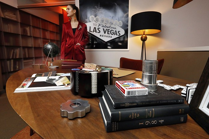 A display highlighting the Secret Agent experience appears during a preview of the Neiman Marcus Christmas Book in New York. (AP Photo/Richard Drew)