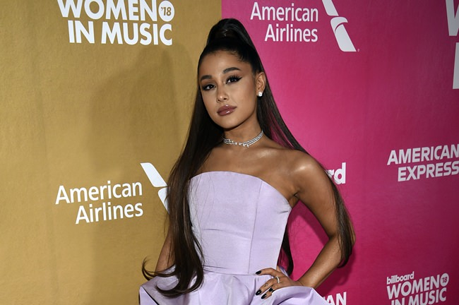 Ariana Grande attends the 13th annual Billboard Women in Music event, Dec. 6, in New York. (Photo by Evan Agostini/Invision/AP)