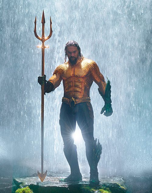 "This image released shows Jason Momoa in a scene from ""Aquaman."" (Warner Bros. Pictures via AP)"