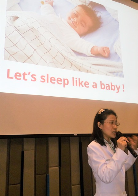 Dr. Niratchada concluded her presentation noting that most sleep disorders can be successfully treated, thus we should all be able to sleep like a baby.