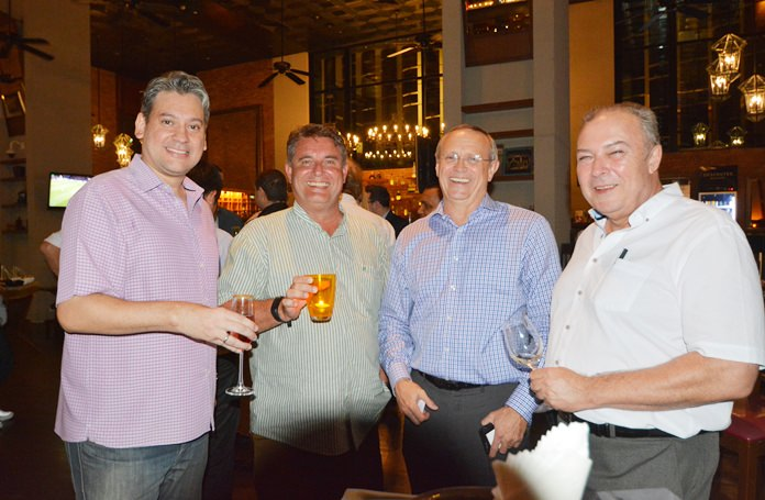 Alex Parry, GM of Let's Hyde Resort & Villas, Wouter Banning, MD Skypoint Hospitality, Jean-Pierre Trabut , GM of Movenpick Siam Hotel Pattaya and Rene Pisters, GM of Thai Garden Resort.