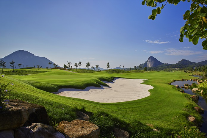 A view from the back of the 14th green at Chee Chan Golf Resort.