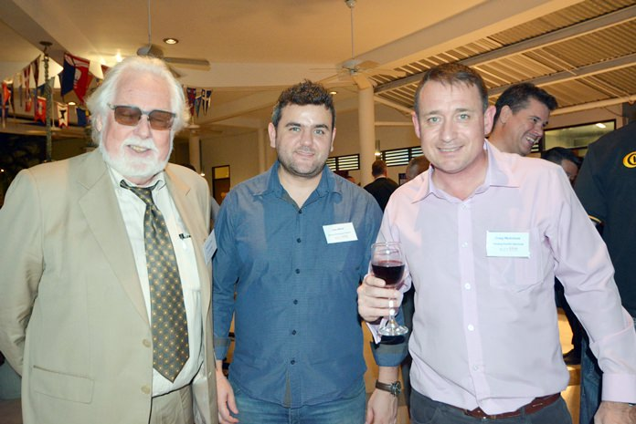 Michael Usher (AT Interlaw), Joao Maluf (Skywave Technologies Thailand) and Graig McAvinue (Tenzing Pacific Services).