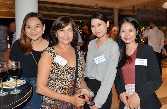 Sansanee J. Perandus (Troca Sta Legal), Supa Kukarja (Pattaya Mail), Natchanakarn P. and Sasithon P. (TPG IMMO).