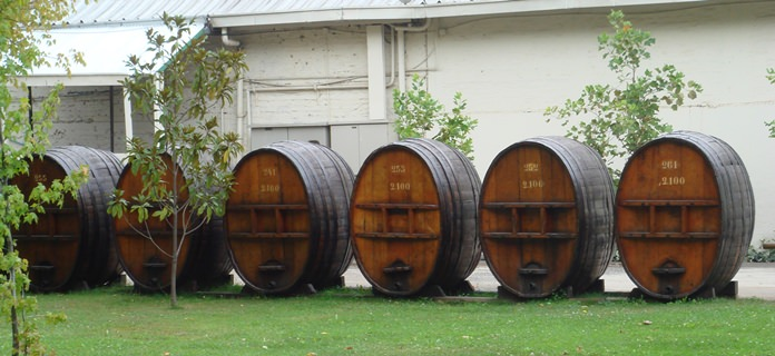 Concha y Toro old barrels.