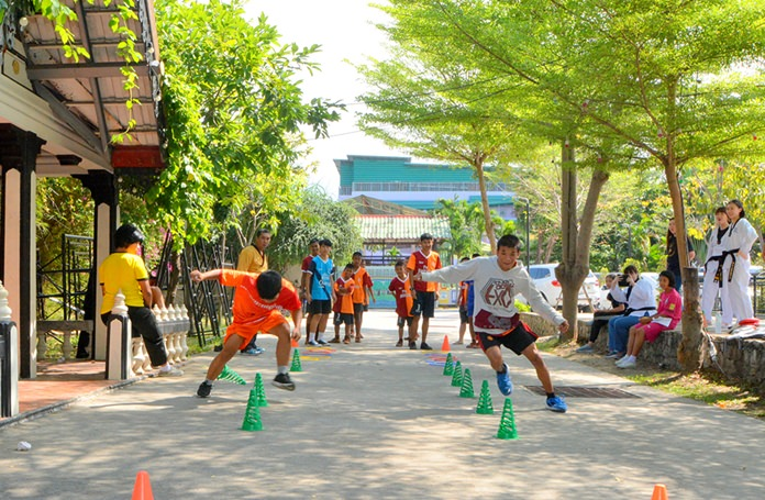 Kids were taught the basics of tennis, but also got to take part in other activities organized for youths.