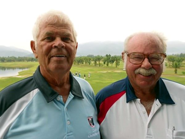 Elias Magnusson (left) with Dave Richardson.