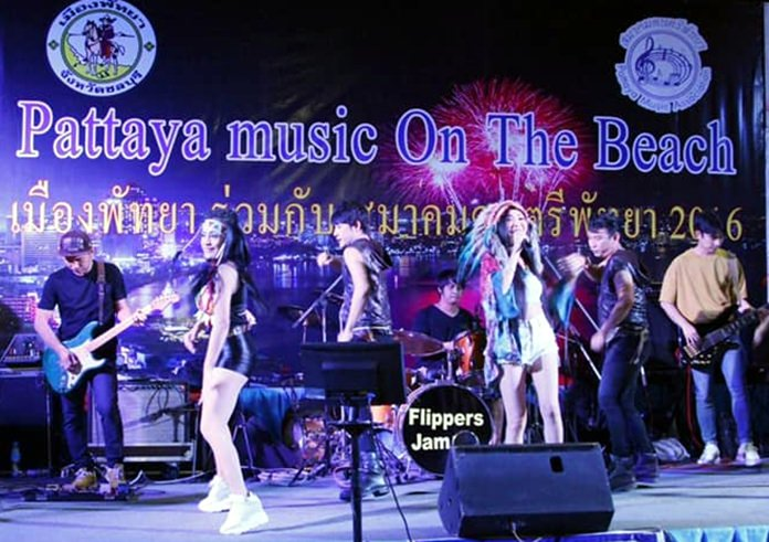 Pattaya Music on the Beach festival proved a popular hit with tourists and locals.