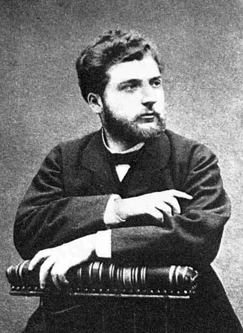 Georges Bizet photographed in about 1860.