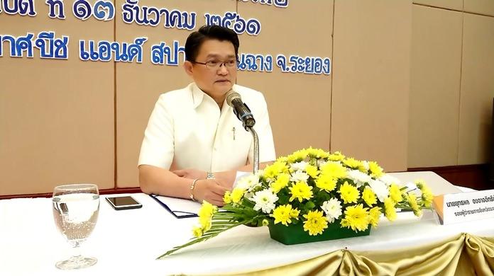 Deputy Governor of Rayong province Yuthapol Ongarjittichai.