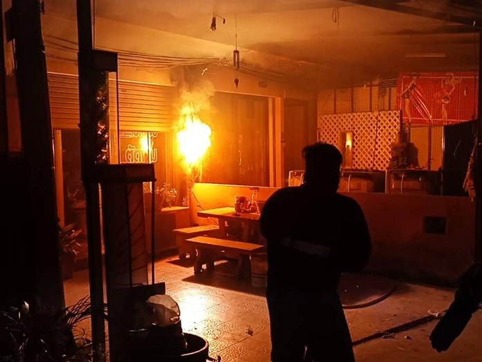 Bad circuitry is being blamed for a fire that damaged a barber shop at South Pattaya's Sophon Market.