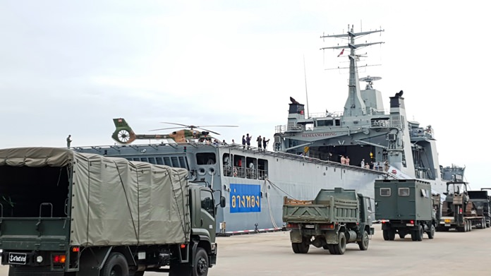 The Royal Thai Navy mobilized in anticipation of tropical storm Pabuk unleashing its wrath on Thailand's South.